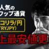 トルコリラ/円(TRYJPY)史上安値更新!