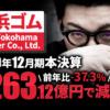 横浜ゴム、2020年12月期本決算 純利益は-37.3%の263億1,200万円で減収減益