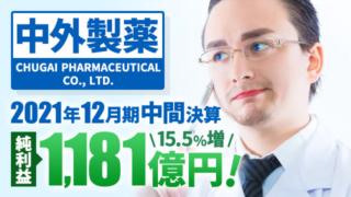 中外製薬、2021年12月期中間決算 純利益は15.5%増の1,181億円で増収増益
